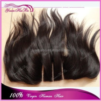 New Products for 2015 Full Cuticle 100% human hair ear to ear lace frontal piece 13x4 brazilian virgin three part lace frontal