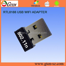 2.4GHz network card 150Mbps wireless adapter 802.11n RT8188CUS usb alfa wireless adapter