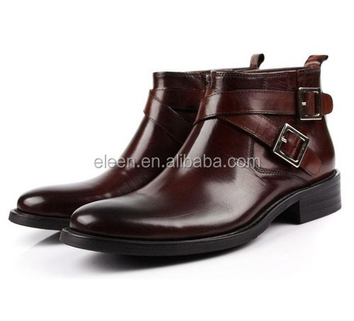 Italian shoe brands genuine leather men boot