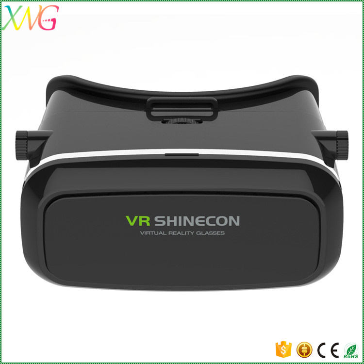 Shenzhen OEM best price virtual reallity 3D glasses vr box 2.0 vr shinecon with remote