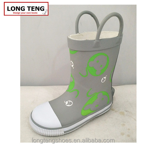 2016 cheap china cartoon printed rubber rain boot /wellies/wellington/in custom logo for kids