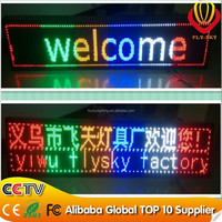 super slim wireless led programmable sign running message display\led message sign