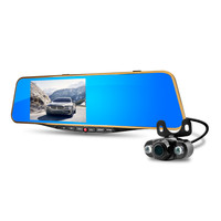 New Arrival Andriod System Car Rearview Mirror 5 inch GPS Navigation Wifi Parking Camera Three-in-one DVR