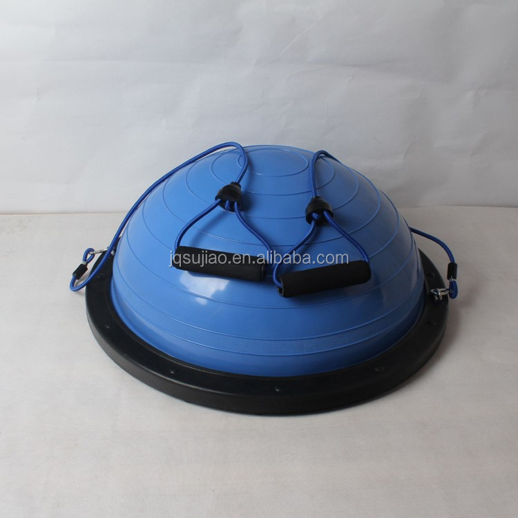 Yoga Fitness Strength Exercise Half Bosu Ball with Straps/Fitness ball/home gym equipment