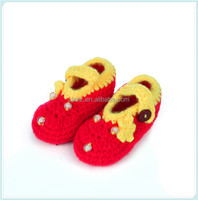 Blue Fashion Handmade Knitted Crochet Baby Summer Sandals Infant Prewalker Shoes