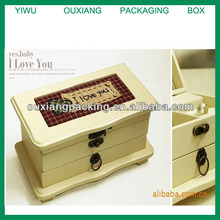 Custom pure wooden jewelry case for wholesale