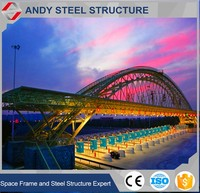 Steel Structure Light Frame for Prefab Toll Gate Steel Truss Roof