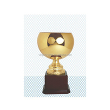Gold Plated Metal Trophy Cup Award with Customized Logo for Champion Prize