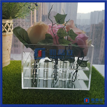 royal rose display packing case for sale wholesale clear acrylic rose box flower storage box
