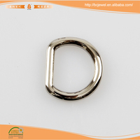 Best seller guangzhou manufacturers wholesale Custom Handbags Accessory Hardware Square Metal Buckles D Ring for Bags with Logo