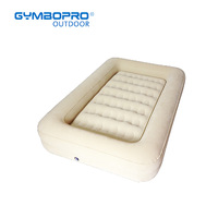 Inflatable Toddler Travel Air Mattress with Safety Bumpers Portable Blow Up Kids Bed with Built in Bed Rail