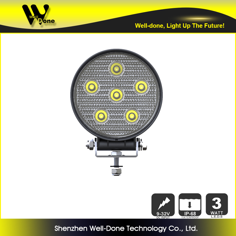 Hot sale 18w led working lamp for earth moving machinery