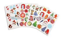 beauty christmas PVC stickers