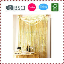 Shimmering Foil Curtain Party Decoration Backdrop Fringe Curtain for Wedding Birthday Babyshower Party