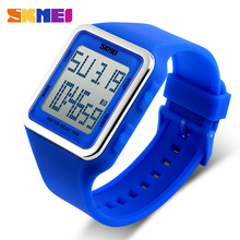 SKMEI branded new digital silicone colorful soft band watch made in China#1139