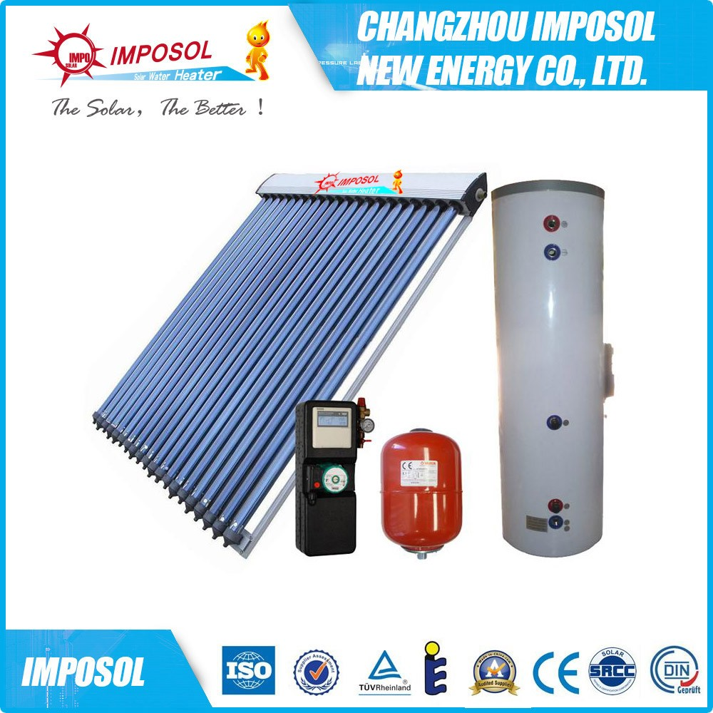 thermal solar water heater heat pipe, solar water heating system for home
