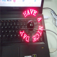 SF-1002-6,Best seller led message mini fan usb programmable flashing fan usb mini desk fan with CD