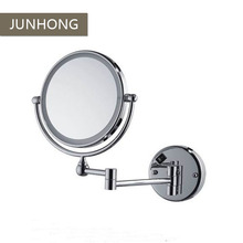 2 Sides dual extendable arm hotel magnifying shaving make up mirror with LED lights