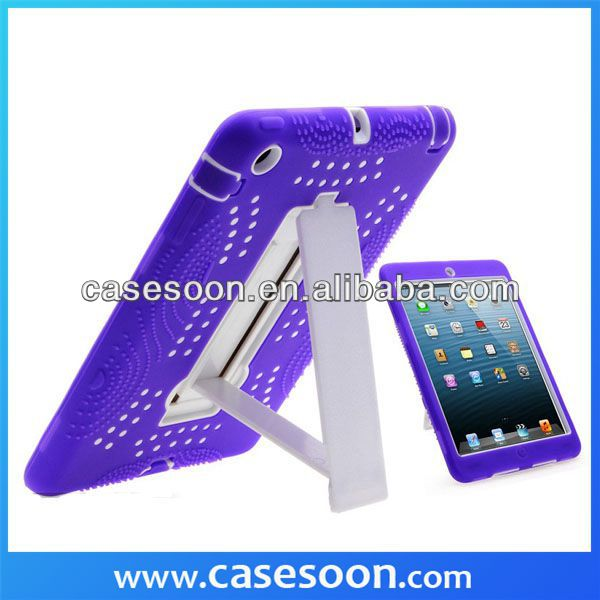 New Kickstand Rubber Hybrid Layer Hard Cover Case For Ipad Mini Hybird case,for ipad mini kickstand case