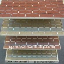 Hongcheng newest siamesed fiberglass asphalt facing brick wall tile