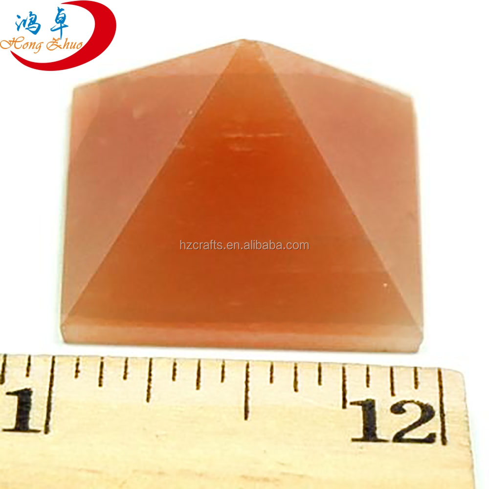 elegent blank pyramid crystal paperweight