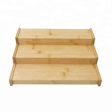 Bamboo Spice Rack Spice <strong>Shelf</strong>, Spice Storage Organizer 3 Tier