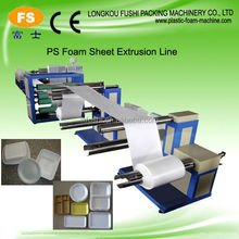 Polystyrene sheet forming machine for plastic box extrusion