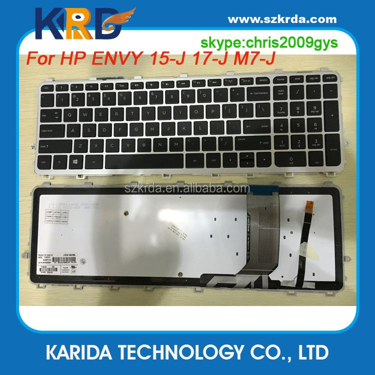 Hot selling laptop keyboard for HP ENVY 15-J 17-J M7-J US keyboard notebook keyboard