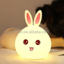 Gifts Cartoon Rabbit Silicone Lamp USB Charge Led Nightlight