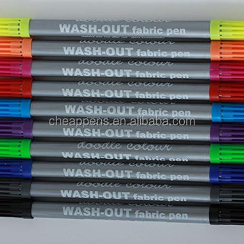 Permanent Waterproof Dual Tip Fabric Marker