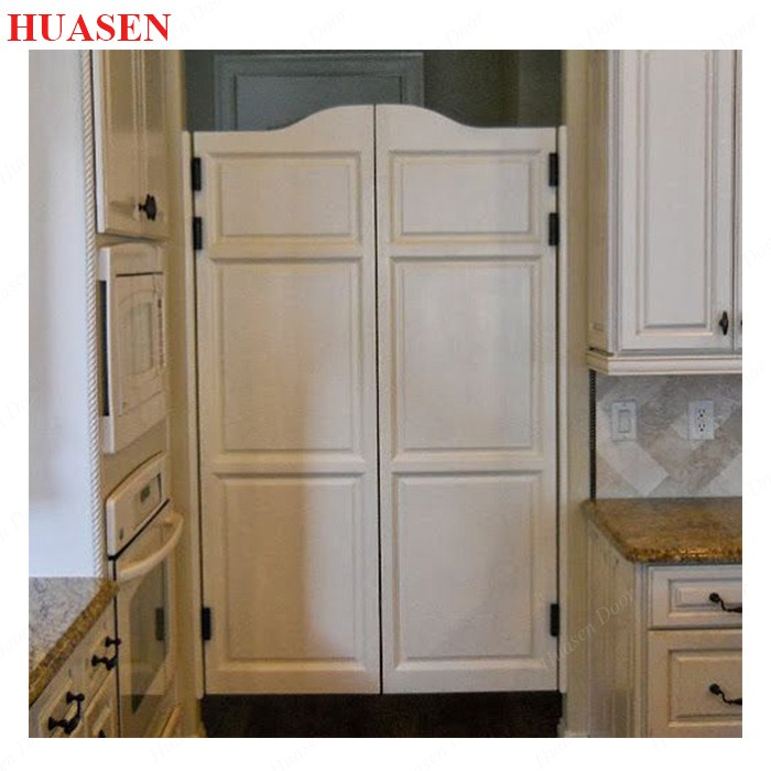 Double swing door for kitchen