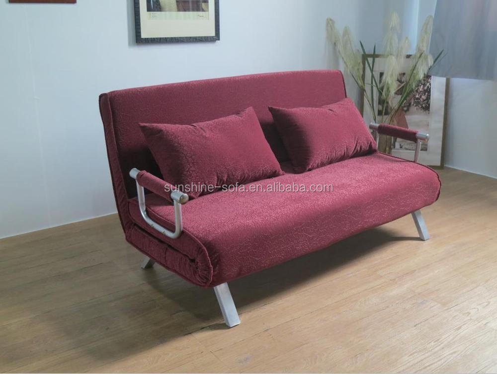 Modern Living Room Steel Structure Cheap Fabric Folding Futon Sofa ...