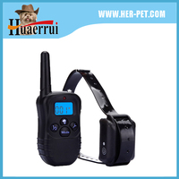 Fashion wholesale Christmas gift rechargeable remote vibrating led pet product dog training collar for puppy