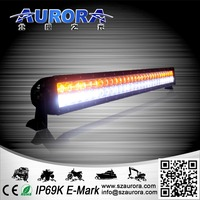 180W Double Row White/Amber LED Work Light Bar