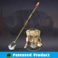 outdoor emergency combination pick gear , Military carbon steel shovel , portable outdoor equiment .survival kit