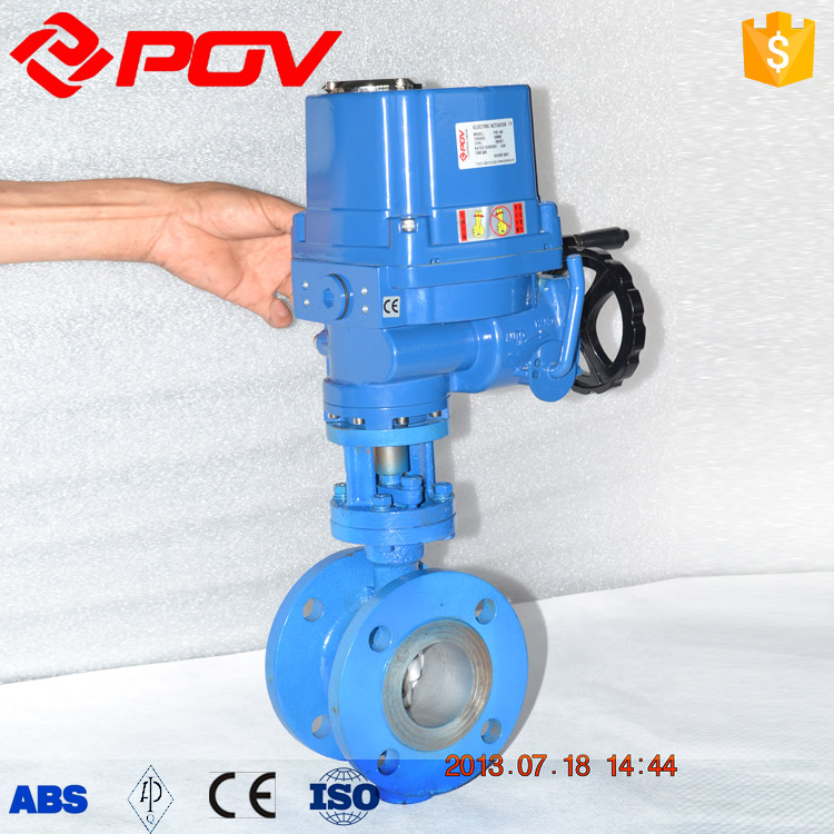 explosion proof flange metal hard seal electric butterfly valve