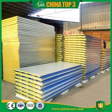 Glass wool Rockwool Insulation Sandwich Panel partition wall panel