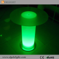 Plastic Round LED Lighting Bar Table LED Glass Top Table for Party/Events/Wedding