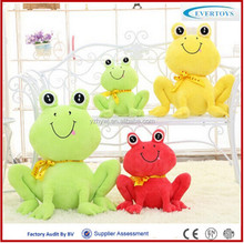 wholesale green frog plush jumping frog toy