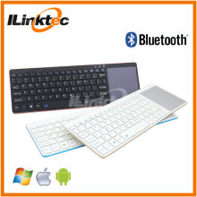 Super Thin Bluetooth keyboard mini size+touchpad+Air mouse+Slim Aluminium cover