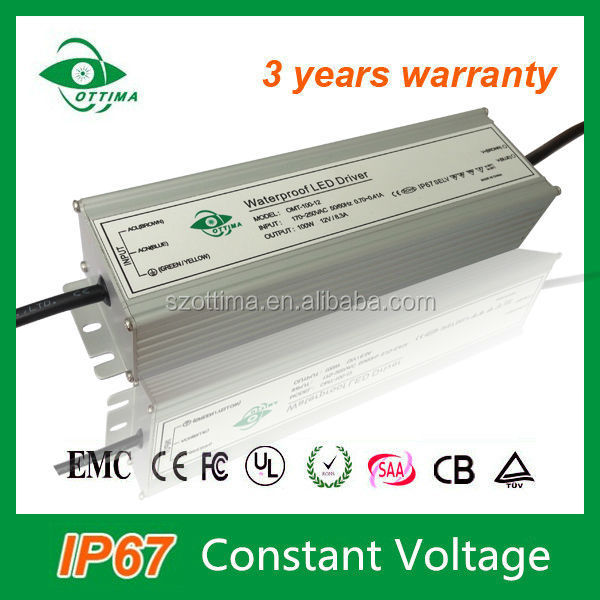 waterproof electronic power supply 110v 220v 12v transformer 10a 120w