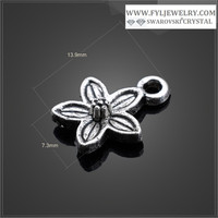 Custom zinc alloy plum flower pendant charms