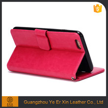 High quality free sample pu leather wallet mobile phone case for iphone 6/7 plus