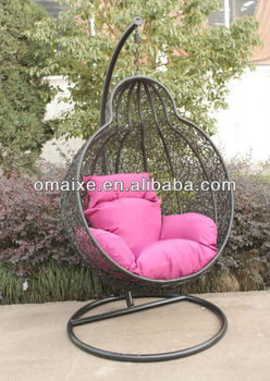 hand-woven rattan garden furniture for rest easy with swingings