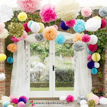 Wholesale wedding flower arch with pompom flower,honeycomb