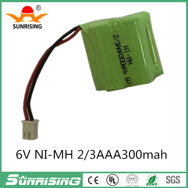 1.2v battery 300mah ni-mh bateria 6v nimh battery pack 2/3aaa rechargeable ni mh for lighting rc car toy electric tools