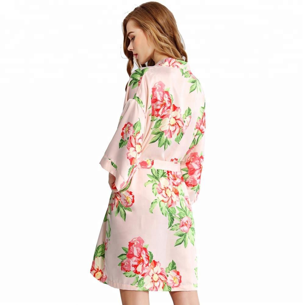 Satin kimono robe wholesale
