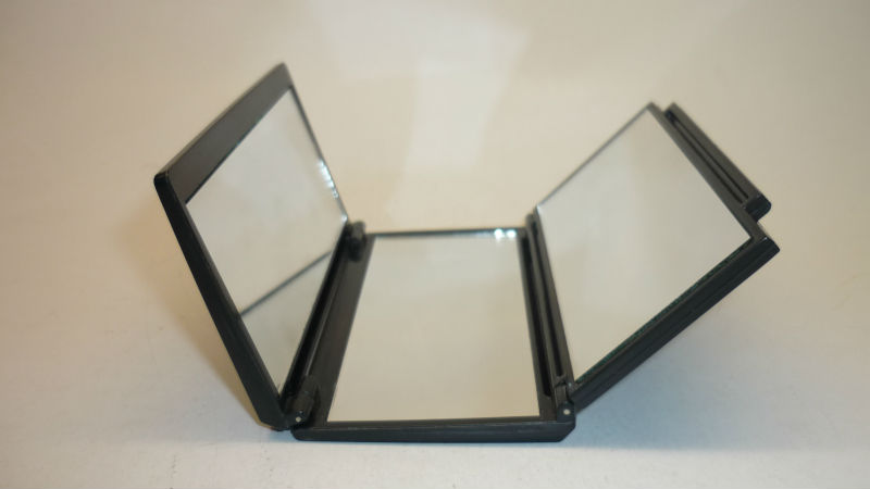 Three Way Rectangular Compact Makeup Mirror