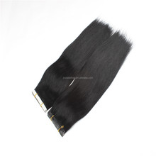 Glue hair wefts straight tape hair extension in stock china factory