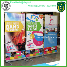 Tarpaulin Roll Up Banner Stand Printing On Sale